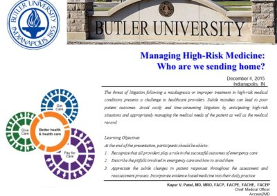 Butler University Physician Assistant Program