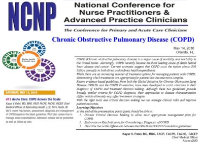 National Conference for Nurse Practitioners Spring 2016 Conference