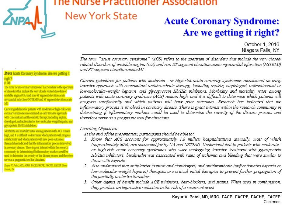 32nd Annual Conference – The Nurse Practitioner Association New York State